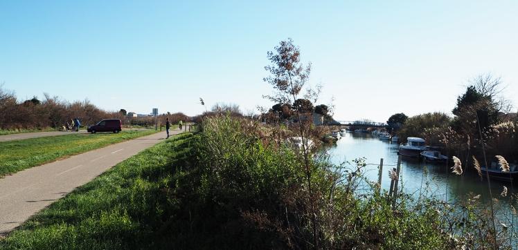 Montpellier - Palavas en longboard